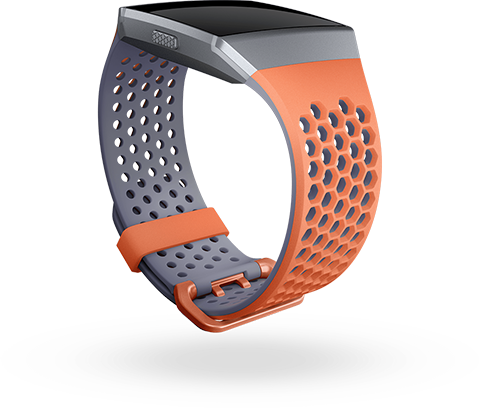 Coral & Blue-Grey Sport Band
