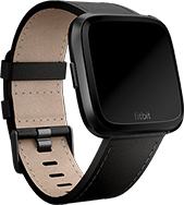 Grey Heart Rate Tracking Activity Fitness Smartwatch Fitbit Versa Music Play